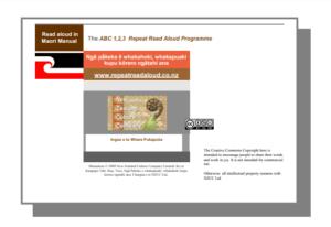Repeat Read Aloud Maori Manual
